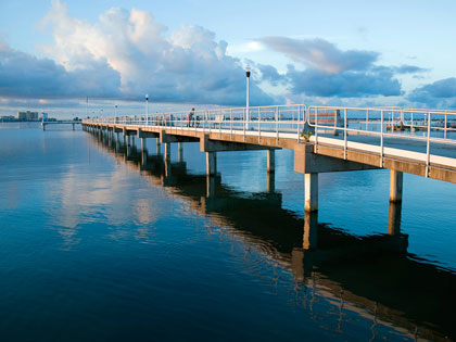 Williams Pier is a favored fishing spot